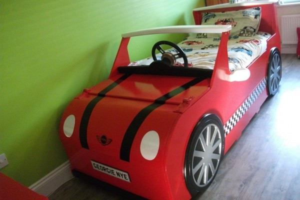 Mini Cooper Themed Bed