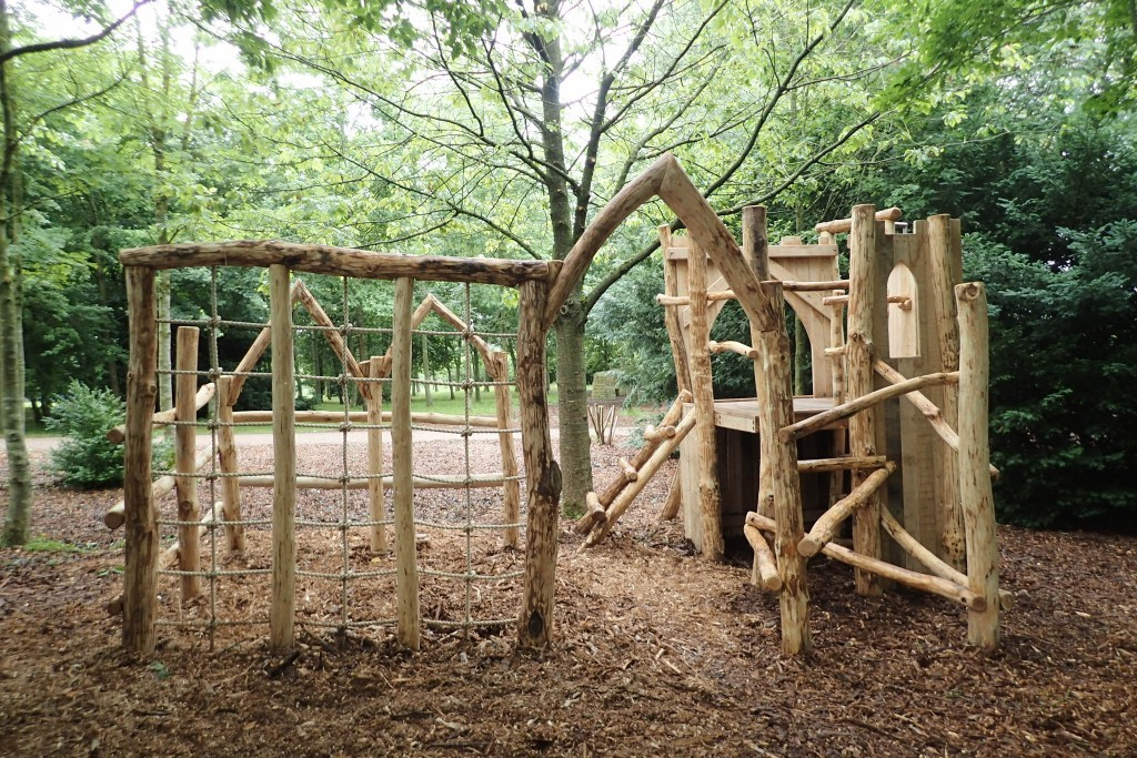 Miniature Replica Abbey Fountains Abbey And Studley Foyal Extensive Rustic Outdoor Woodland Play Area By Flights Of Fantasy