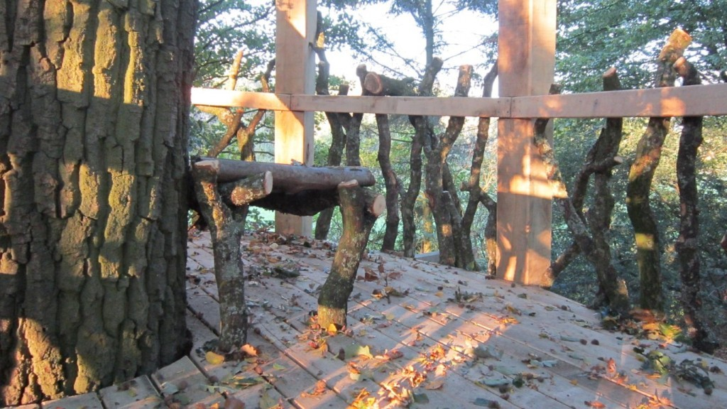 Moseley Old Hall Rustic Forest Tree House Play Area Seating