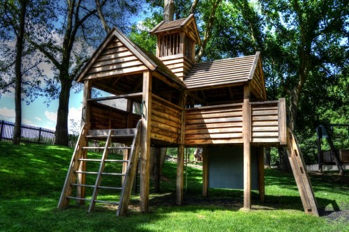 Multi Play Tower Hatfield House National Trust Childrens Outdoor Wooden Play Area Replica