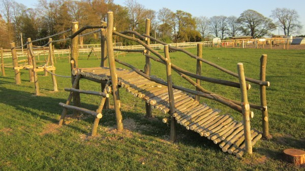 Natural Wooden Outdoor Play Area 004