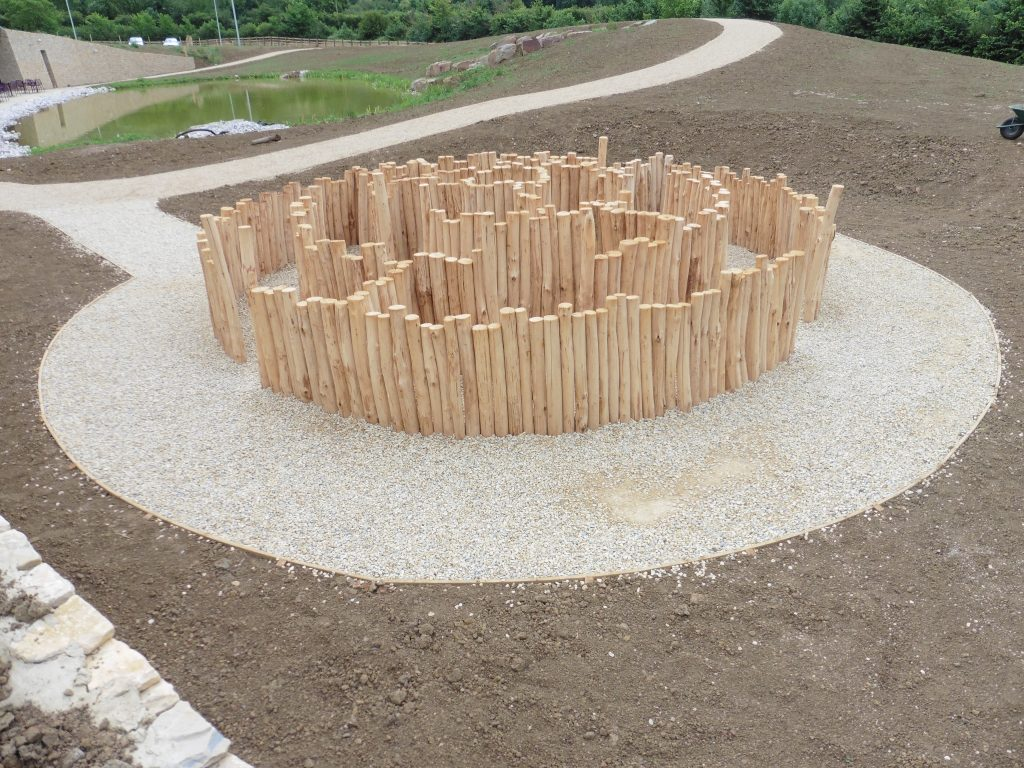 Newly Installed Westmorland Gloucester Services M5 Outdoor Play Area Maze Labyrinth