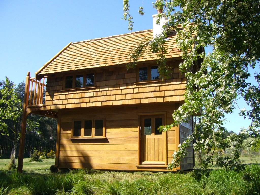 On The Meadow Walnut Cottage Two Storey Custom Built Wooden Play House Playhouse With Shingle Roof 1