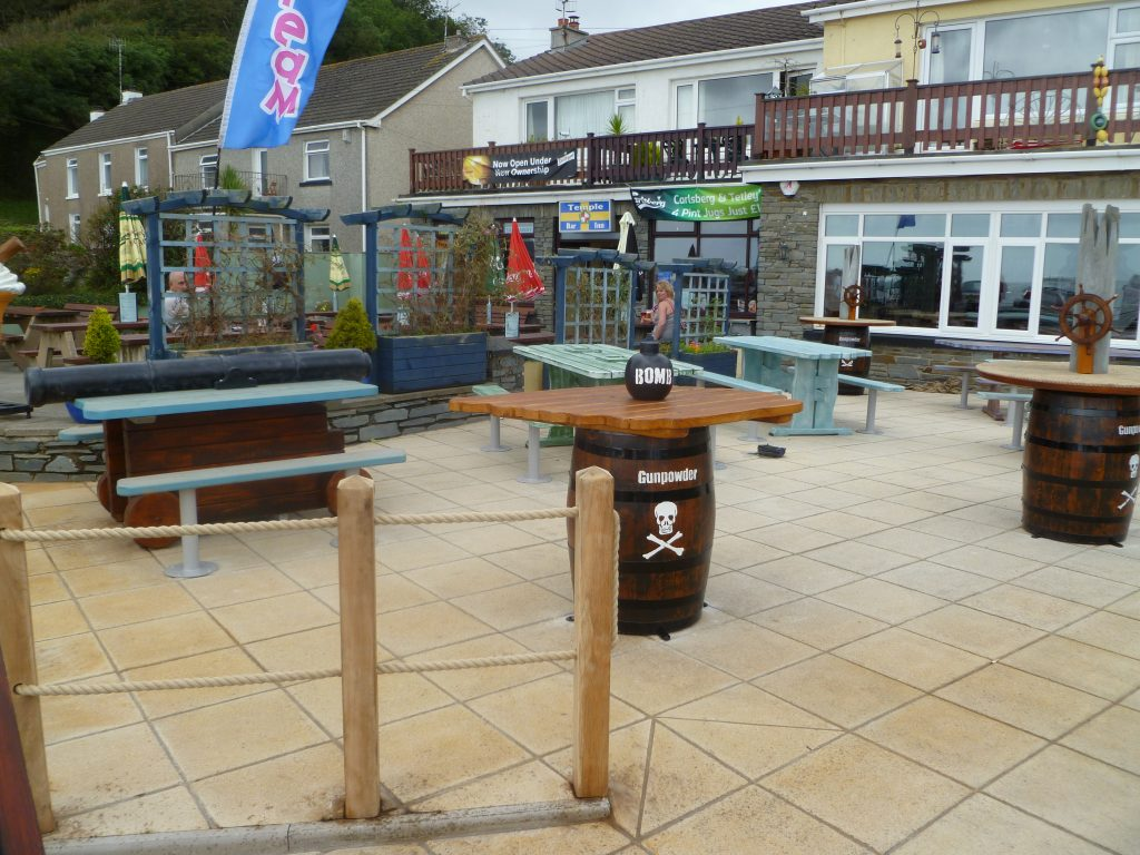 Overview Smuggler Bar And Grill Amroth Pirate Themed Seating And Benches