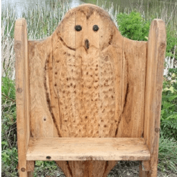 Owl Themed Carving Bench Seating By Flights Of Fantasy
