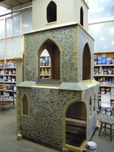 Painting Barton Bendish Church Play Area Miniature Replica