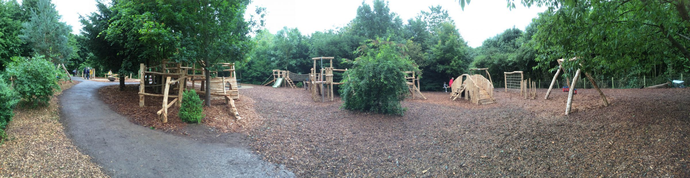 Panorama Fountains Abbey And Studley Foyal Extensive Rustic Outdoor Woodland Play Area By Flights Of Fantasy