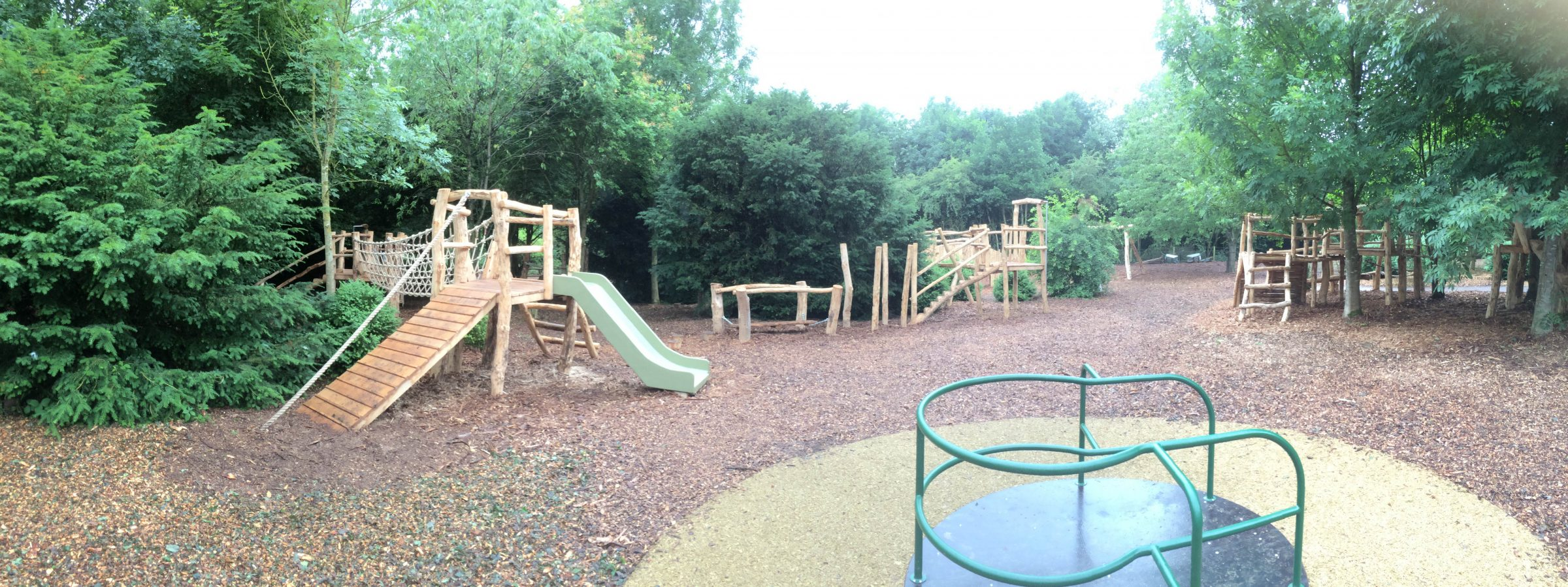 Panorama Of Centre Fountains Abbey And Studley Foyal Extensive Rustic Outdoor Woodland Play Area By Flights Of Fantasy
