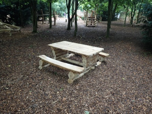 Picnic Table Fountains Abbey And Studley Foyal Extensive Rustic Outdoor Woodland Play Area By Flights Of Fantasy