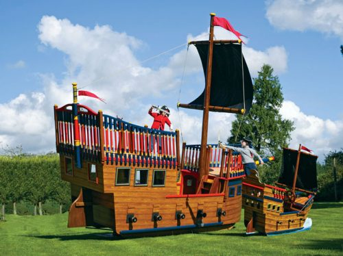 Pirate Duel Pirate Galleon Giant Wooden Play Pirate Ship For Children
