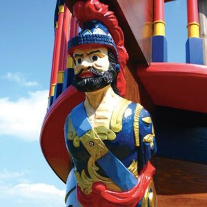 Pirate Figurehead On Pirate Galleon Wooden Sculpture Carving By Flights Of Fantasy