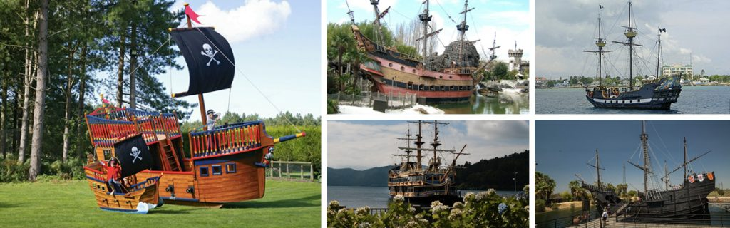 Pirate Ship Galleon Replica Miniature Play