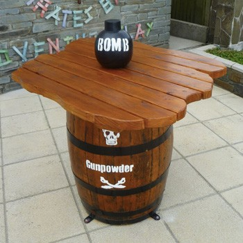 Pirate Themed Barrel Table By Flights Of Fantasy
