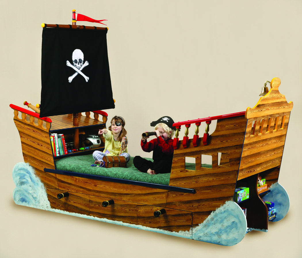 Pirate ship beds flights of fantasy Wooden childrens furniture