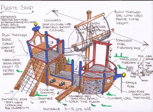 Plans Highnam Under Fives Pirate Ship Play Area