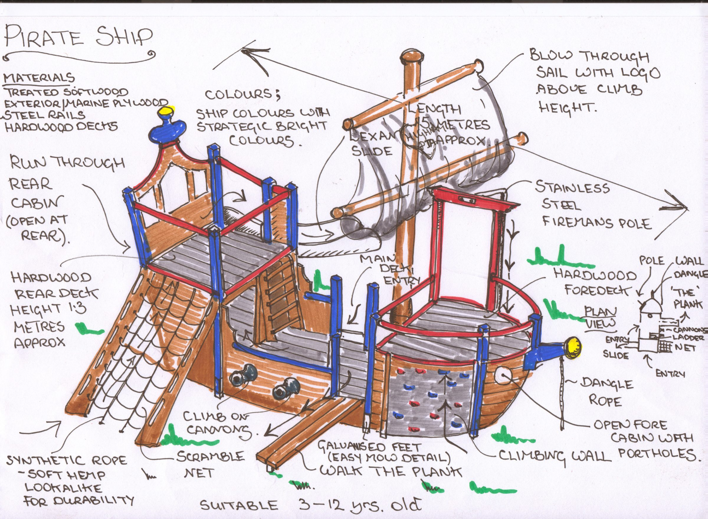 Highnam Under Fives Pirate Ship Play Area Flights Of Fantasy Simple Plant Cell Diagram For Kids A Young Children