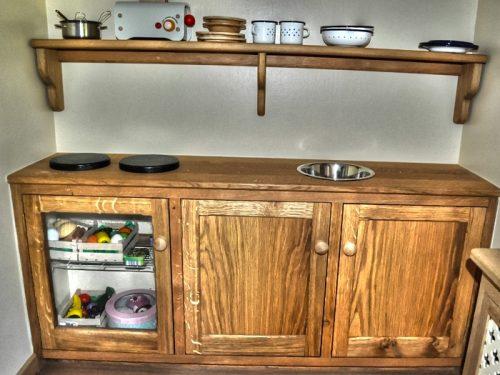 Play Kitchen In Walnut Cottage Childrens Playhouse