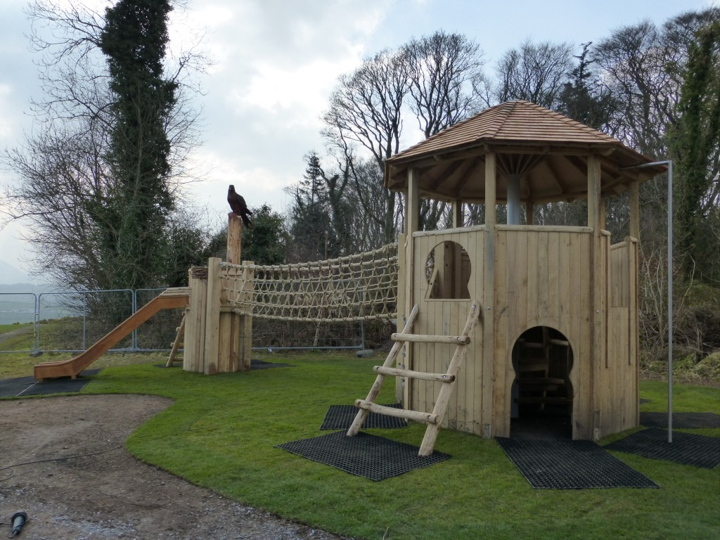 Play Towers Animal Wood Animal Themed Outdoor Play Area With Animal Carvings At Castlewellan Forest Park Northern Ireland