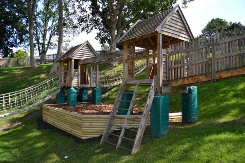 Play Towers Hatfield House National Trust Childrens Outdoor Wooden Play Area Replica By Flights Of Fantasy
