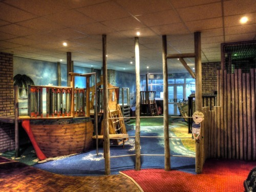 Play Area Smugglers Bar And Grill Restaurant Indoor Childrens Play Area Pirate Themed With Climbing Ropes And Slide