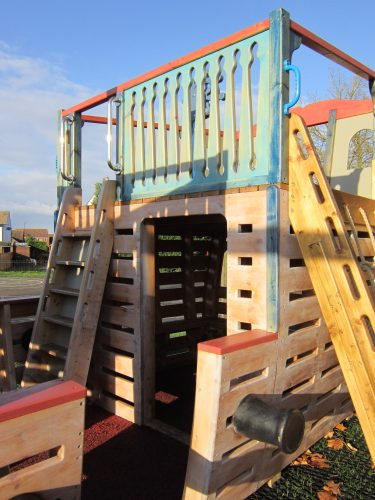 Rear Cabin Houghton Conquest School Pirate Ship Playground
