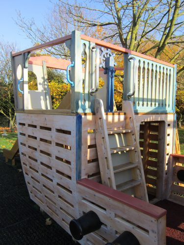 Rear Cabin Ladder Houghton Conquest School Pirate Ship Playground