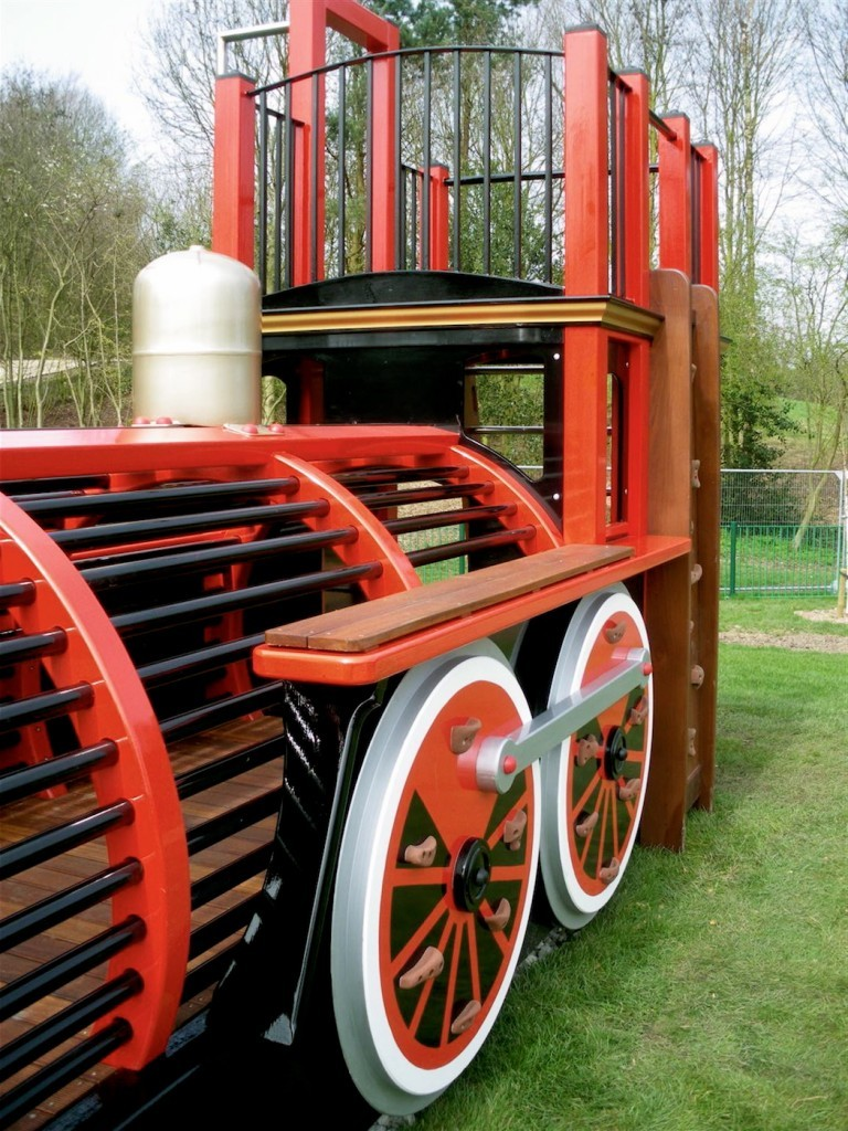 Rear Left Runcorn Play Train Centrepiece Outdoor Play Area