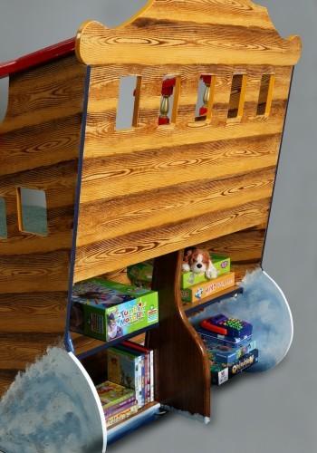 Rear shelves (Pirate ship bed wooden childrens beds bedroom furniture)