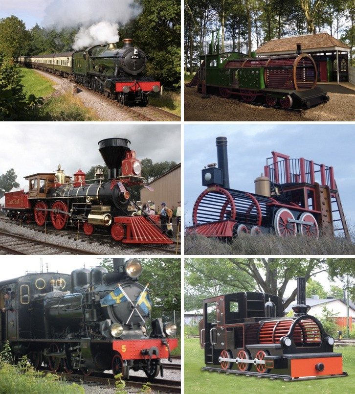 Replica Play Trains By Flights Of Fantasy Side By Side Comparison