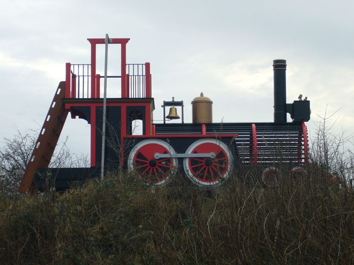 right-side-view-pacific-locomotive-childrens-play-train-with-climb-wall-slide-pole-and-ladder
