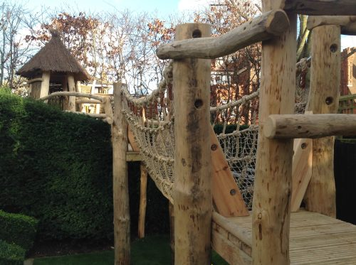 Rope Bridge Over Hedge The Secret Garden Rustic Play Area For Private Client By Flights Of Fantasy