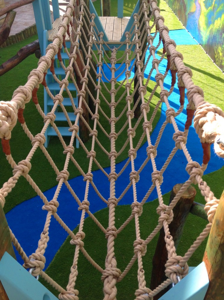 Rope Bridge - Rapunzel's Dreamhouse Floral Fantasy - Magical Fantasy Themed Children's Playhouse Wendy House18