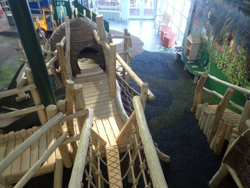 Rope Bridge And Raised Platform Whisby Natural World Indoor Play Area Natural Themed With Wall Mural 05