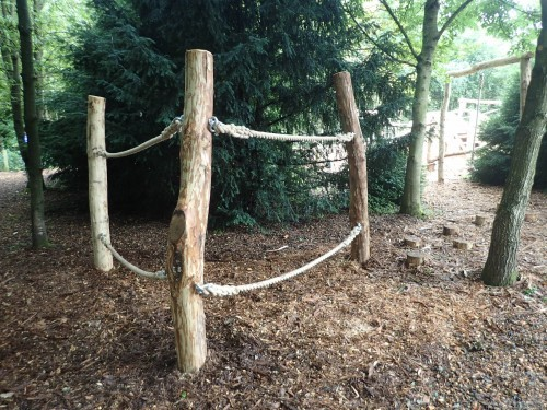 Rope Traverse Fountains Abbey And Studley Foyal Extensive Rustic Outdoor Woodland Play Area By Flights Of Fantasy