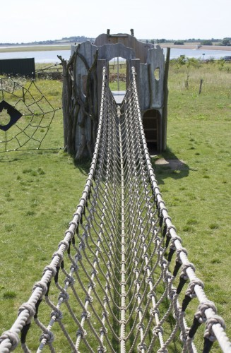 Rope V Bridge Abberton Reservoir Childrens Outdoor Play Area By Flights Of Fantasy