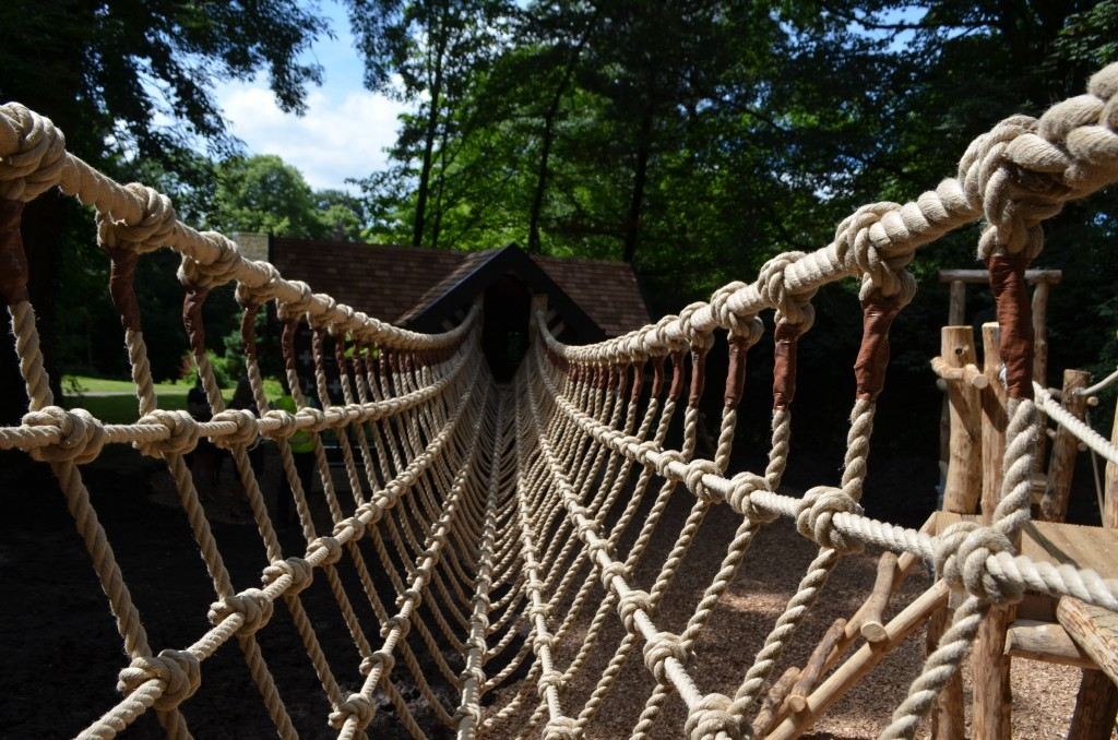 Rope V Bridge Samlesbury Hall Childrens Outdoor Play Area With Replica Landmark And The Mayflower Play Ship By Flights Of Fantasy