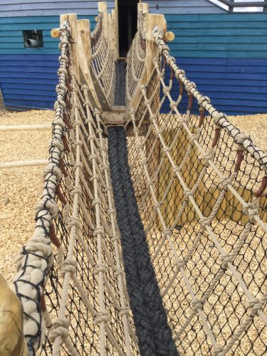 Rope Vee Bridge Folly Farm Pirate Play Area Playground E1502392427988