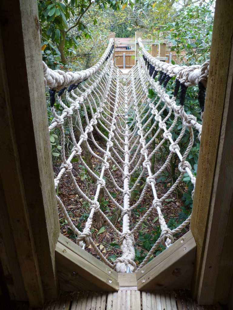 Rope Bridge Fun House Private Multi Play Tower 1