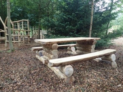Rustic Wooden Picnic Bench By Flights Of Fantasy