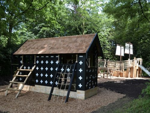 Samlesbury Hall Replica Play Area With Pirate Ship