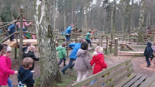 Sandringham Public Wooden Outdoor Childrens Play Area 04