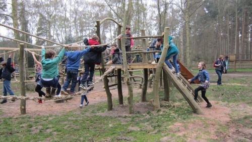 Sandringham Public Wooden Outdoor Childrens Play Area 11