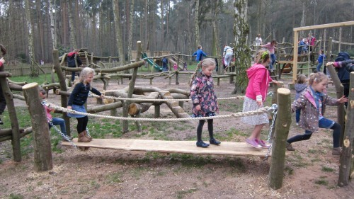 Sandringham Public Wooden Outdoor Childrens Play Area 16