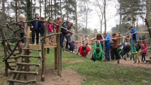 Sandringham Public Wooden Outdoor Childrens Play Area 19