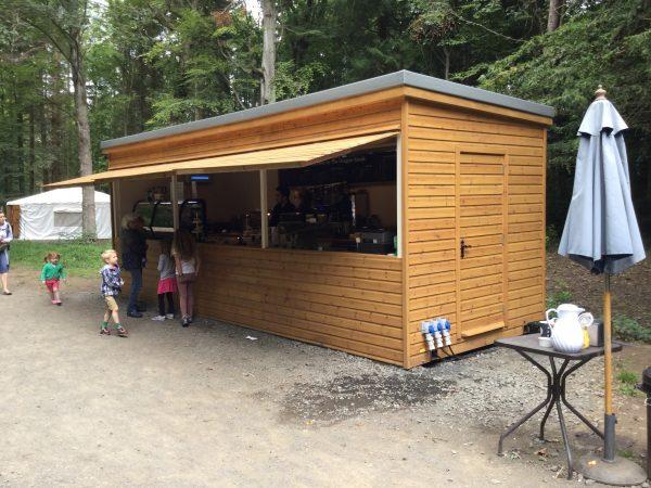 Serving Food Wallington Hall Food Hut