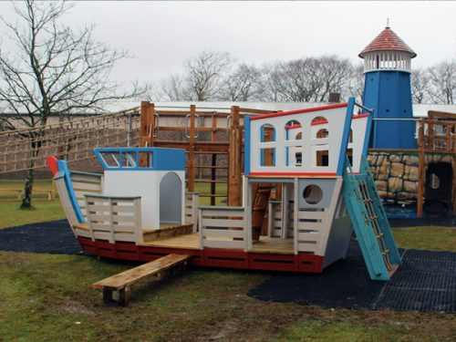 Shebbear School Themed Play Area With Lighthouse And Pirate Ship