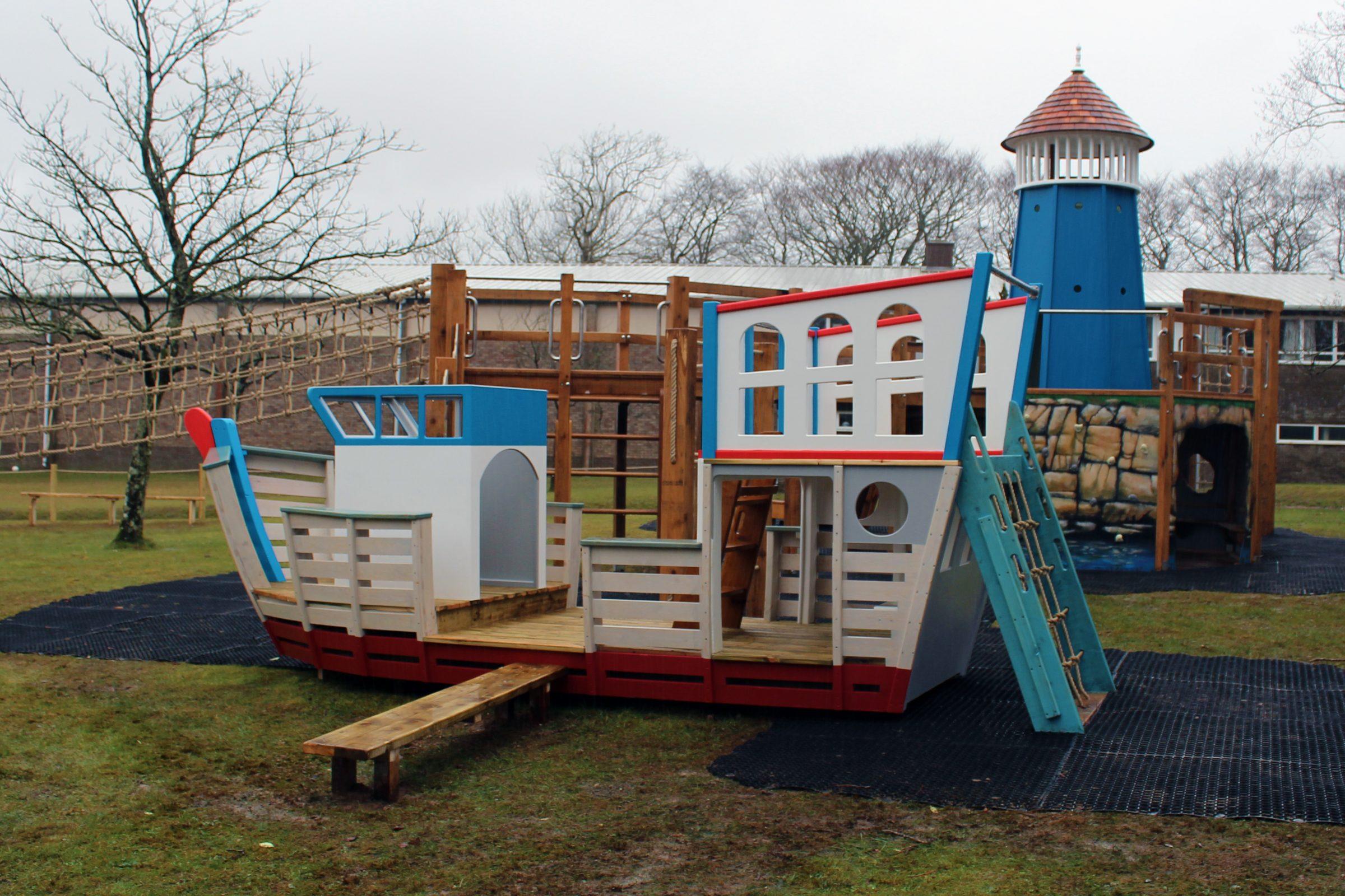 Shebbear School Ship and Lighthouse Play Area | Flights of