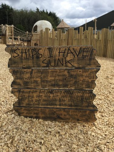 Ships I Have Sunk Sign Folly Farm Pirate Play Area Playground E1502395705394