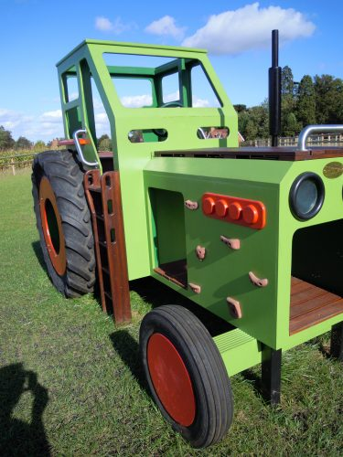 Side Close Hatfield Farm Childrens Play Tractor With Slide 1