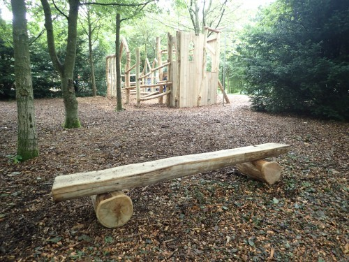 Simple Log Bench Fountains Abbey And Studley Foyal Extensive Rustic Outdoor Woodland Play Area By Flights Of Fantasy